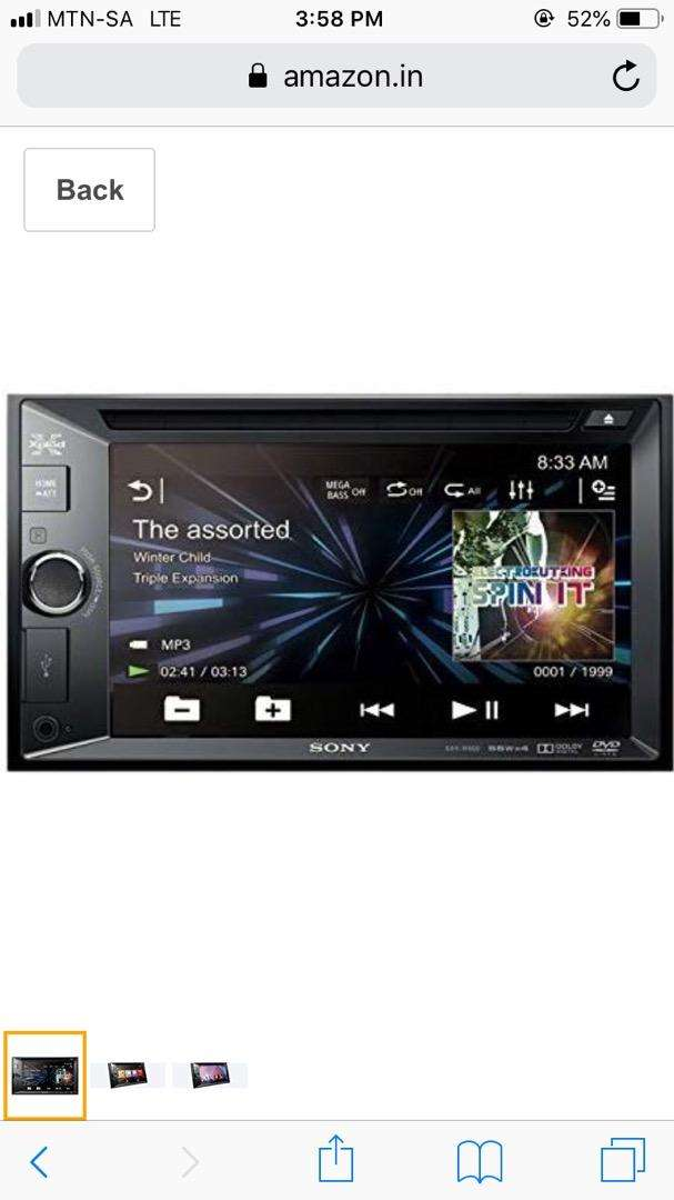 "SONY6.2"" DVD Bluetooth AV Receiver  R 2,500 0"