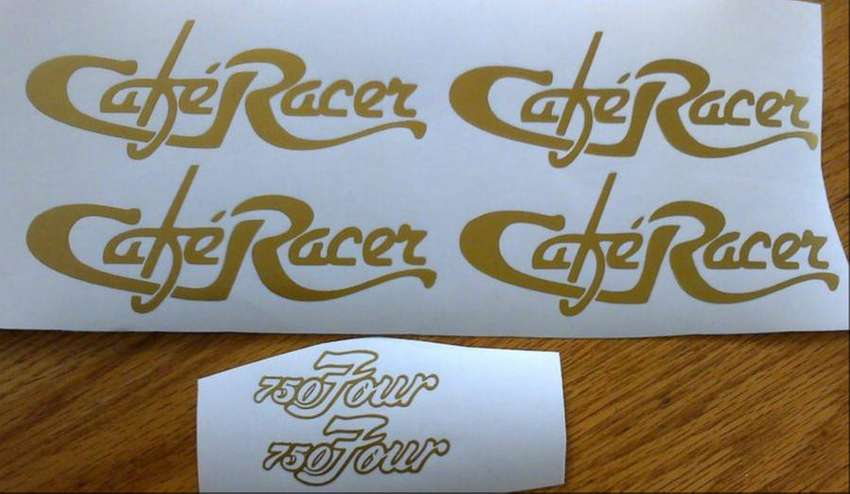 6 peice cafe racer decals stickers graphics set 0
