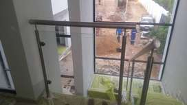 Stainless Steel and Glass Balustrade. Fabrication & Installation