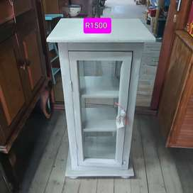 All around wood and glass display cabinet