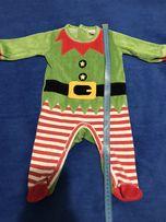 Новогодний, Рождественский человечек, слип для новорожденного.