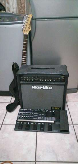 Cort guitar, hartke guitar Amp and Boss GT8 for sale