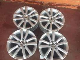 Vw polo mags set size 14 still in good condition for sell