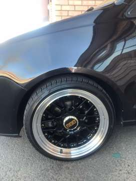 17inch BBS RIMS AND TYRES