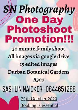 One day photoshoot special