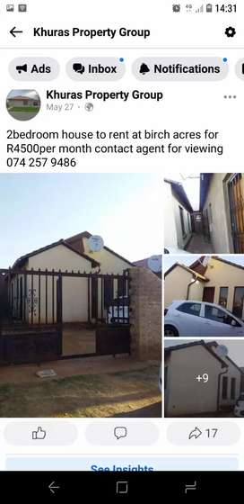House to rent at BIRCH ACRES