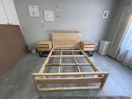 Rubber Wood double bed