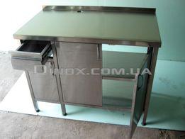 Стол – тумба под кофемашину с нок-боксом и мусорным баком