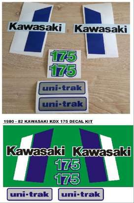 1980 Kawasaki KDX 175 decals stickers kit