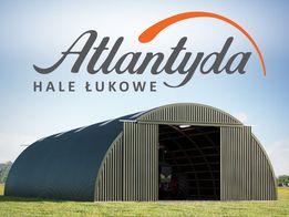 Hala Łukowa na bale stalowa 9,30x15m wiata hangar garaż konstrukcja