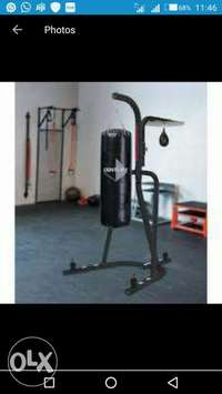 American Fitness dual punching bag wt stand 0