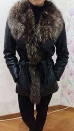 Кожаная куртка чернобурка