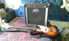 Bass guitar and Peaver Base amp