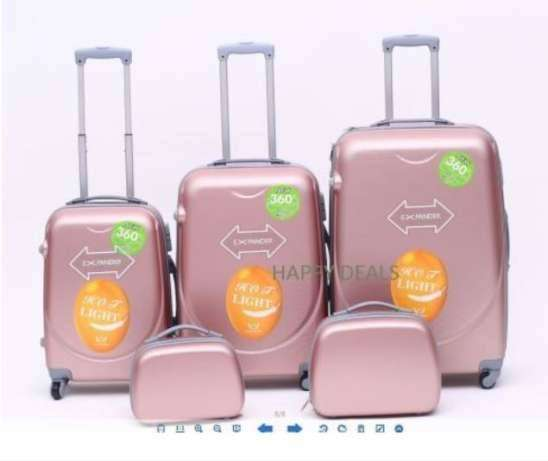 Brand New 5 pc Travel Luggage Bags Trolley Suitcases 3/4/5 piece sets 0
