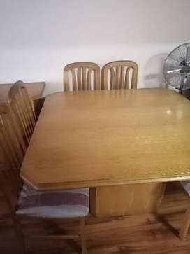 Dining room table and sideboard