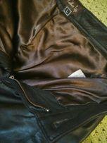 Крутые кожаные байкерские брюки штаны женские