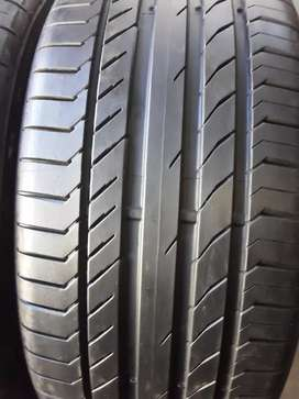 2×255/40/20 Continental tyres for sale