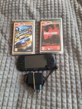 PSP with 2 games