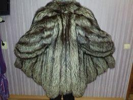 Шуба полушубок чернобурка