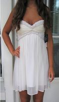 Женское нарядное платье United Kingdom белое туника коктейльное выпуск