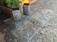 Image of Patio table set