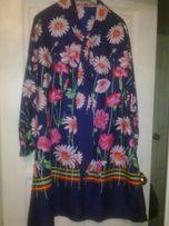 Кремпленовое платье большого размера 60-х..Новое.Выстирано.