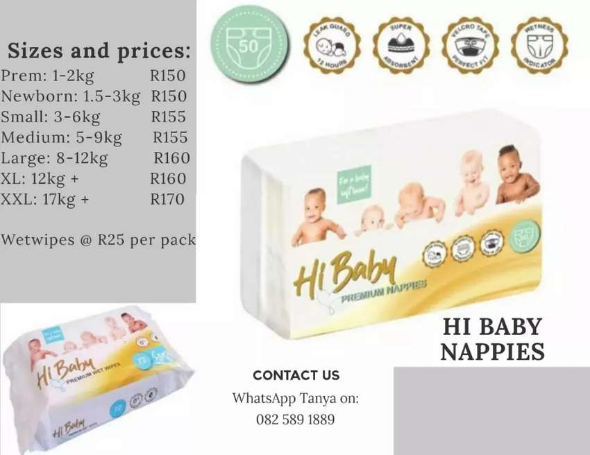 Hi Baby Nappies now available in Kimberley 0
