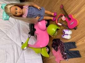 Our Generation Doll with scooter & accessories