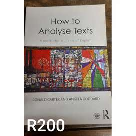 Unisa textbook: How to Analyze text