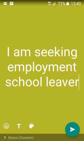 I am seeking employment