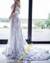 Powystawowe suknie ślubne z trenem rozmiar 36, 38