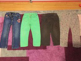 Zestaw Spodnie spodenki jeansy dżinsy sztruksy r. 98/104-110