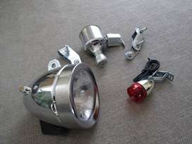 bicycle spares - vintage light set with dynamo - brand new