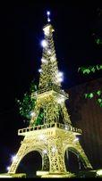 Фотозона Эйфелева башня СВАДЬБА украшение прокат LOVE с лампочками
