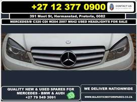 Mercedes Benz C320 CDI used headlights for sale