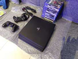 Ps4 PRO console with one controller & cables