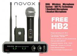 Novox FREE HB2 zestaw bezprzewodowy mikrofon 2x