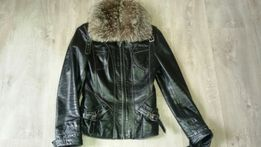 Кожанная куртка р-р s-xs