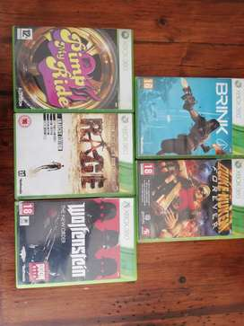 Xbox 360 games all for R180