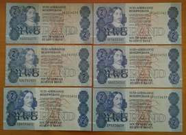 Set of 6 S.A R2 notes