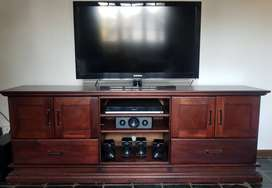 Timber Plasma TV unit