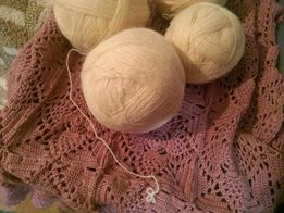 нитки для вязания полушерсть