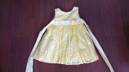 Piękna wyjątkowa Sukienka Savannah żółta, z USA, r 92, stan idealny