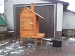 Wędzarnia Drewniana Duża Wędzarki Drewniane Komplet 60x70x130 + stolik