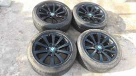 "BMW 17"" rims and tyres"