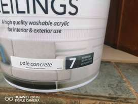 20L Fired Earth Wall and Ceilings Pale concrete Paint600