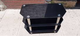 Vida Designs Glass TV Stand, Glass, Black ONLY R750