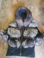 Шуба из чернобурки,не норка,куртка,полушубок,жилет чернобурка.