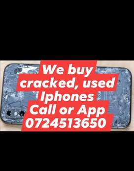 We buy cracked and used Iphones around Vaal and Surroundings