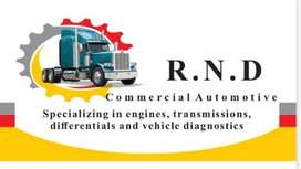 R.N.D commercial automotive Specializing Gearboxes,differential,engine